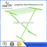 Green color baby shop garment display rack , clothes drying rack