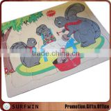 Safe chipboard puzzle jigsaw cards for babies