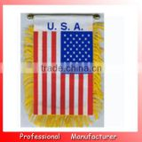 advertising banner,Eco-friendly satin 8*10cm USA hanging flag,bunting banner