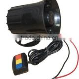 30W 3 Sound Black 12V Police Siren With Button                                                                         Quality Choice