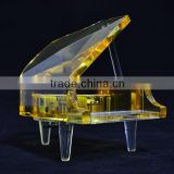 crystal music box with high-end crystal material battery operated music box
