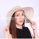 Fashion Ladies Hat And Wide Brim Sun Visor Cap And Paper Straw Hats