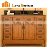 LB-LX2011 Antique beauty bath set solid wood double sink bathroom vanity, mirrored bathroom cabinet