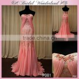 Sweetheart sweep train pink mother of the bride jacket dress