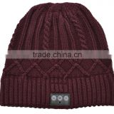 Knitted women winter cashmere wireless hat with more colors for optional