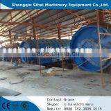 2015 Automatic Waste tyre/plastic pyrolysis plant to carbon black production by Shangqiu Sihai manufacturer