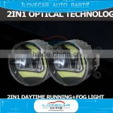 Car accessories fog lights, 2 in 1 fog light with LED DRL, automobile daytime running light