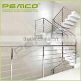 2016 Hot sale custom design indoor outdoor stainless steel staircase handrail