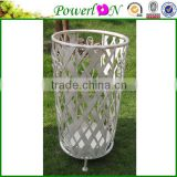 Compitive Price Antique Wrought Iron Umbrella Holder Garden Decoration For Patio Park I PL08-5058