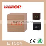 2016 PROMOTIONAL WOOD LED CLOCK ET504