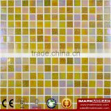 IMARK Design Gold Star Glass Mosaic Tile Mix Quartz Glass Mosaic Tile Kitchen Tile Bathroom Tile Wall Art Mosaic yellow Tile