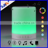 Wifi Wireless Rechargeable Touch Lamp Bluetooth Speaker With Colorful Changing Led Light Lamp For Laptop Computer