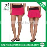 Ramax Custom Women Sport Yoga Lightweight Mini Short Skirt With Adjustable Side Drawcord