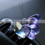 made in china crystal car perfume bottle butterfly shape(R-2298