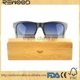 2016 New Products Fashion Vintage Polarized Round Frame Veneer Wooden Sunglasses With TAC Polarized