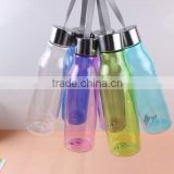 transparent school student drinking water bottle water bottle with Portable handle healthy water bottle