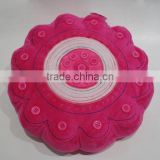 household red flower pillow baby rocking floor cushions