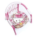 metal cartoon Printing baby chair for eatting ,Baby Kids Sitting Chair with Whistle