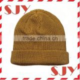 Wholesale fold up organic 100%cotton beanies hat
