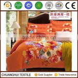 flower 3d printing microfiber fabric chinese bedding set quilt cover sheet and pillow case
