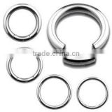 Surgical steel piercing nose hoop segment ring wholesale