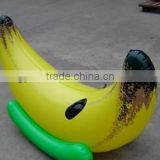 Hot sale pvc high quality custom cheap inflatable banana boat for kids