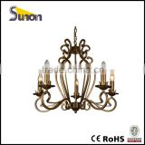 SD1030/5 Anquite Square Tube Chandelier/Simple Pendant Lights/Brass Finish Hanging Linghts