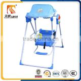 Folding plastic baby swing chair steel tube frame baby swing