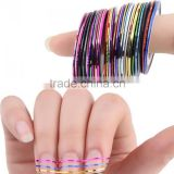 12 COLORS NAIL STICKER ROLLS STRIP TAPE LINE FOR NAIL ART
