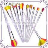 2017 new Unicorn Thread Makeup Brushes Professional Make Up Brushes Fiber Brush Set Makeup Tools Eyebrow Eyeliner Powder Brushes