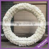 Factory handmade round White Artifical Wedding Arch in Silk Rose and hydrangea flowers for wedding decoration