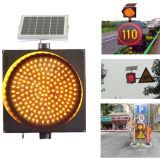 ABS shell yellow red green blue flashing led solar traffic warning light