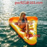 Manufacturer supply inflatable pizza/Swan/Pegasus/flamingos/unicorn floating row water swim ring float