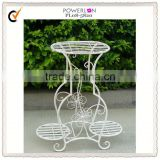 new item antique Powder coated classical shabby chic outdoor wrought iron plant stands