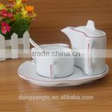 China manufacturers custom design ceramic 5pc breakfast tea set