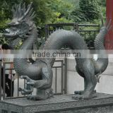 High quality decorative casting bronze chinese dragon statue