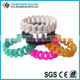 2015 Wholesale fashion twist braided silicone bracelet ,wristband China alibaba