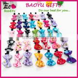 Factory wholesale fashion ribbon bow kids hair clip lovely baby hair clips