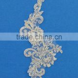 New design hand heavy bead pearls flower lace embroidery fashion wedding dress