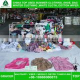 Stock Recycling hot sale In Uk Small Bales Unsorted Cotton Blouse Second Hand Cream Clothes
