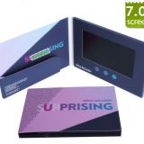 New Trend 2019 PU Video Card/Video Brochure with 7 Inch Screen