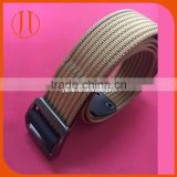Wholesale Fabric Belts Canvas belt woven Weaving nylon zinc alloy buckles Men's belt