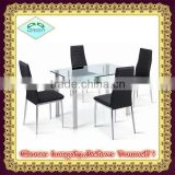 modern dining chair and dining table set glass top dining room furniture