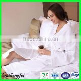 Hotel and home women sleepwear cotton white waffle bathrobe
