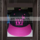 Customized Design 3D Embroidery Contrast color Hip Hop Cap