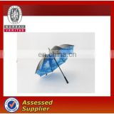 2015 new design custom print umbrella, flower printed umbrella, straight umbrella from China