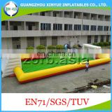 0.55mm PVC Tarpaulin Giant Cheap Inflatable Soap Soccer Field, Inflatable Water Soccer Field for sale