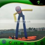 Super Quality Inflatable Sky Dancer Tubes , 10m High Inflatable Blue air Man for Event Advertisement
