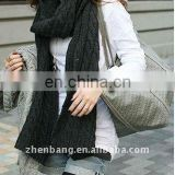 Classic Knitted Wool Winter Scarf