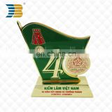 customized anniversary collectables bright color metal trophy